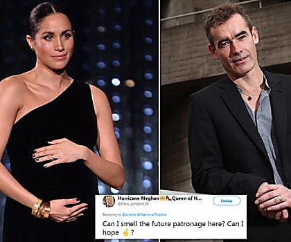 2254307003c Will THIS be former actress Meghan s first royal patronage  Duchess sparks  speculation as she holds a private meeting with the National Theatre  artistic ...